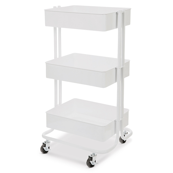 Rolling Carts, White