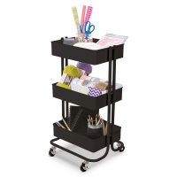 Rolling Carts, Matte BlackRolling Cart,