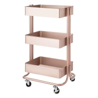 Rolling Cart, Rose Gold