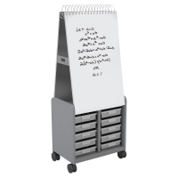 Cascade Spiral Noteboard Unit, Platinum