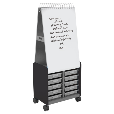 Cascade Spiral Noteboard Unit, Black