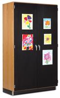 Diversified Woodcrafts Canvas Door Display Cabinet
