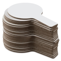 Single-Sided Dry Erase Answer Paddles, Pkg of 24