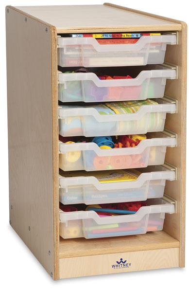 Clear Tray Storage Cabinets, Single-Column