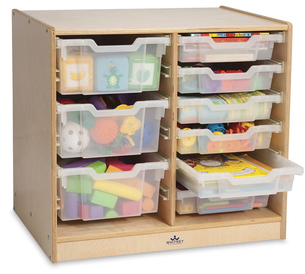 Clear Tray Storage Cabinets, Double-Column