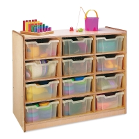 Clear Tray Storage Cabinets(Supplies not included)