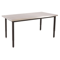 Lobo Table, Stainless Steel Top