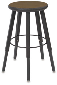 Solid Welded Stool, 5 Legs, Bannister Oak