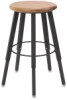 Solid Welded Stool, 5 Legs, Hardwood