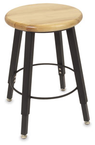Solid Welded Stool, 4 Legs, Adjustable