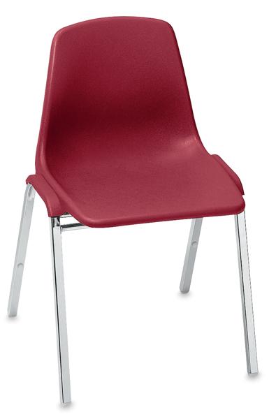 Polyshell Stacking Chair, Burgundy