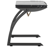 Triflex Drawing Table, Charcoal Frame/Clear Glass