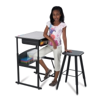 Safco AlphaBetter Stand-Up Desks and Stool