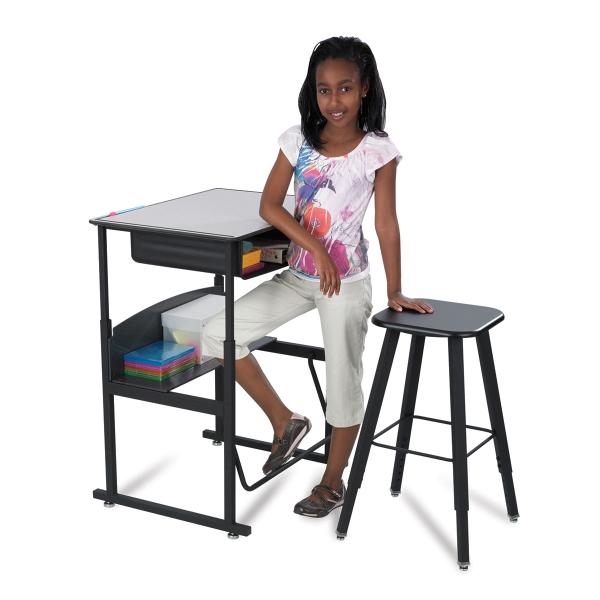 Safco AlphaBetter StandUp Desks and Stool BLICK art materials