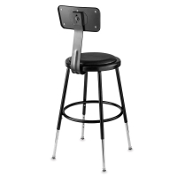 Adjustable Padded Stool with Backrest  sc 1 st  Dick Blick & National Public Seating Corp. Adjustable Padded Stool - BLICK art ... islam-shia.org