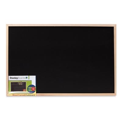 "Wood Frame Chalkboard, 23"" × 35"""