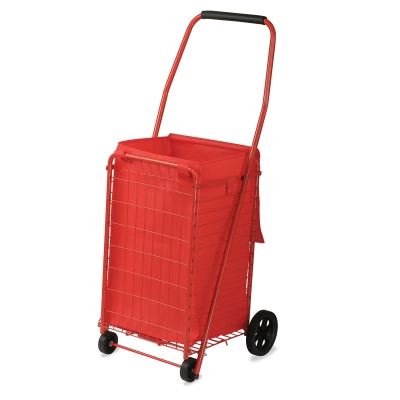 Folding Shopping Cart, 66 lb Capacity