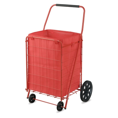 Folding Shopping Cart, 110 lb Capacity