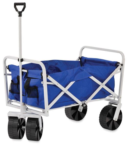Folding Supply Cart, Blue