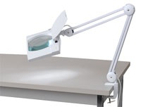 Great Star Tools Heavy-Duty Magnifier LED Clamp Lamp