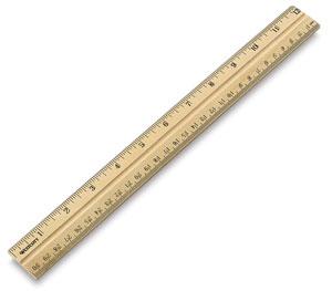 Wooden School Ruler