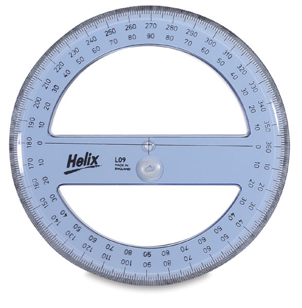 Helix full circle protractor blick art materials for Circular protractor template