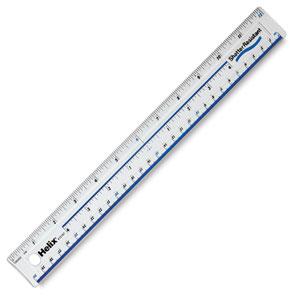 """Shatterproof Plastic Ruler, 12"""""""