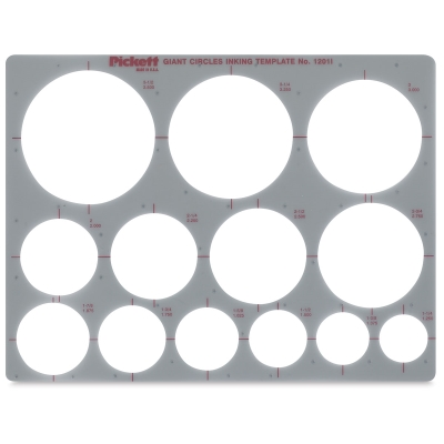 Chartpak Pickett Circle Templates  Blick Art Materials