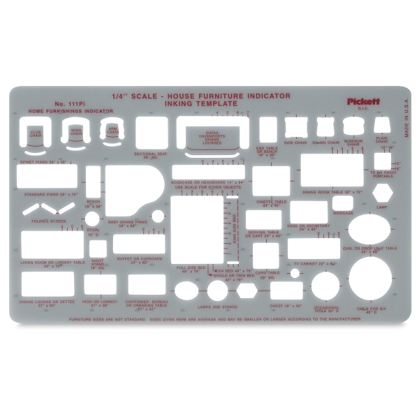 Chartpak Pickett Architectural Templates BLICK art materials