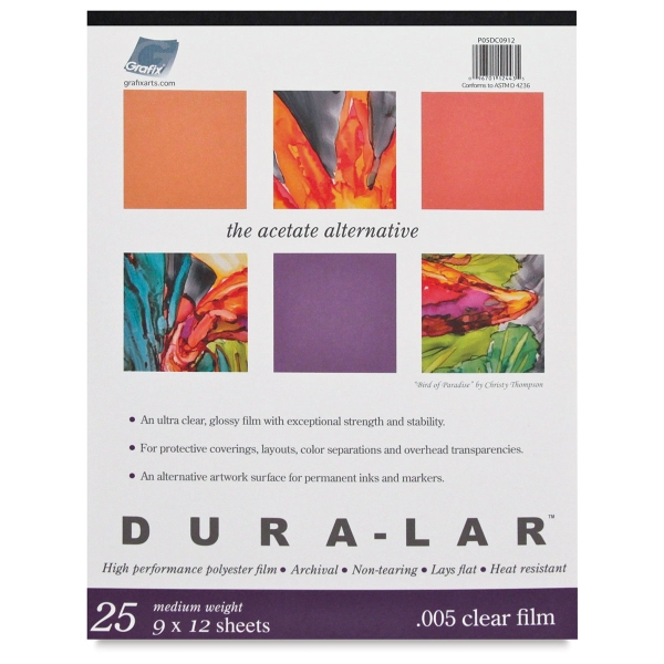 Dura Lar Clear Acetate Alternative, Pad