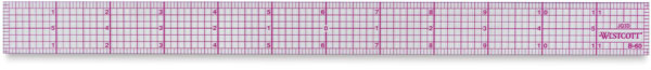 8ths Graph Beveled Ruler, 12""