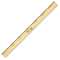 Wood Ruler with Metal Edge (Back)