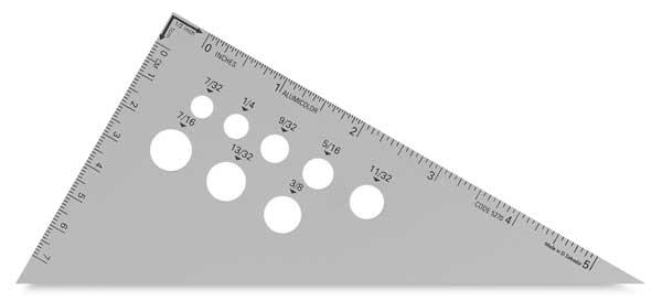"""Aluminum Triangles, 30°/60°, 6"""""""