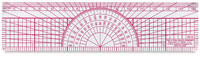 Westcott C-Thru Protractor Ruler