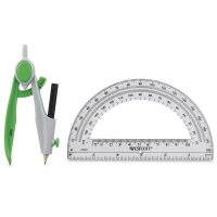 Westcott Student Compass and Protractor Set