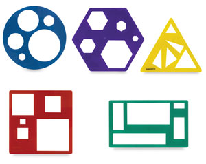 learning resources primary shapes template sets blick art materials