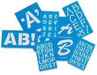 Westcott C-Thru BetterLetter Plastic Letter Stencils