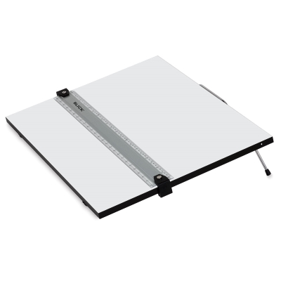 Portable Tabletop Drafting Board with Parallel Ruler Straight Edge