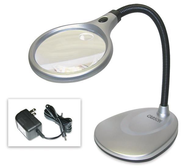 DeskBrite 200 LED Magnifier, 2X/5X
