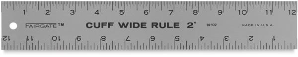 """Cuff Width Ruler, 2"""""""