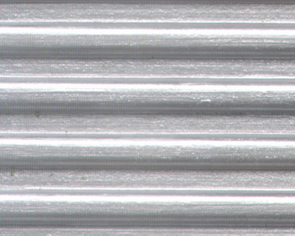 Example of painted Corrugated Siding, 1:16 Scale