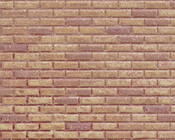 Example of painted Brick, 1:24 Scale