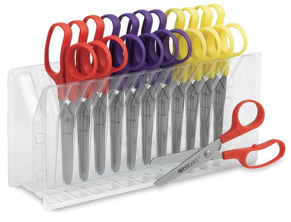 Blunt Scissors, Set of 12 with Rack