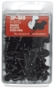 Black Plastic Push Pins, Pkg of 100