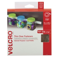 """Sticky Back Fasteners, Tape RollClear (Thin), 3/4"""" x 15 ft"""