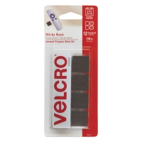Sticky Back Fasteners, Pkg of 12 Squares