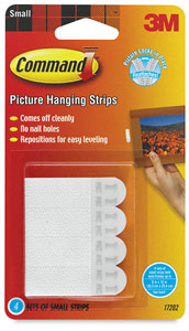 Picture Hanging Strips, 4 Pairs, Small