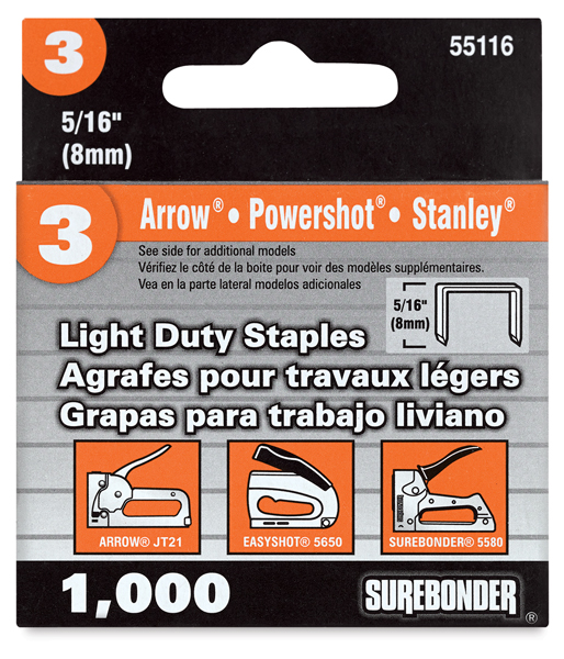 #3 Light Duty Staples, 5/16""