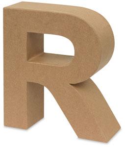 Papier M&#226ch&#233 Letter, R