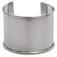 Metal Cuff Bracelet, Nickel